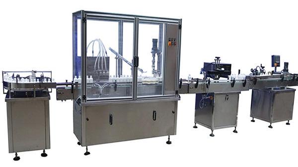 Máquina automática de rotagem e rotulagem de garrafas