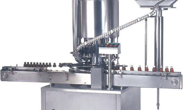 Aŭtomata Multi-Kapo ROPP Cap Capping Machine / Bottle Cap Sealing Machine