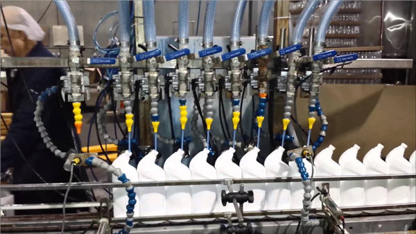 Full-automatic Toilet Cleaner Bleach Linear type Filling Machine