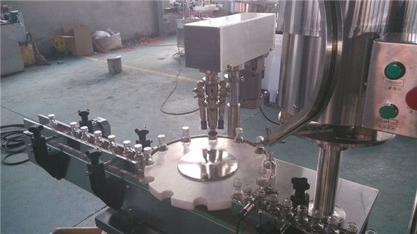 Shampoo / Vinegar / Olive Oil bottle Pressing Capping Machine