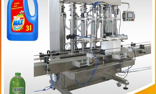 Double-Head Full-Automatic Piston Type Liquid Filling Machine