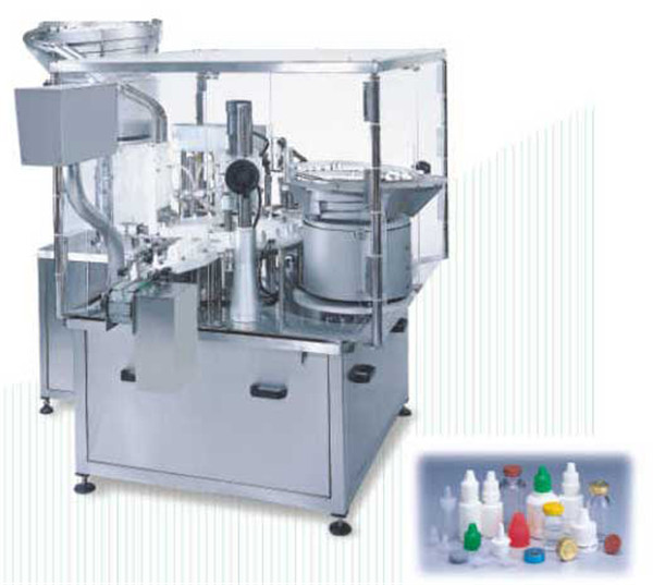 Automatisk roterende flaske væskefyllingsmaskin med avdekking