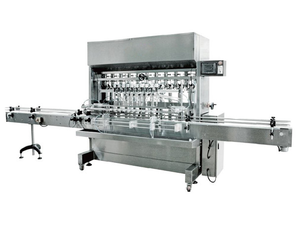 Automatic 12 Heads Gravity Liquid Filling Machine For Soy Sauce