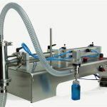 Pneumatic Control Double Heads Lube Oil Filling Machine