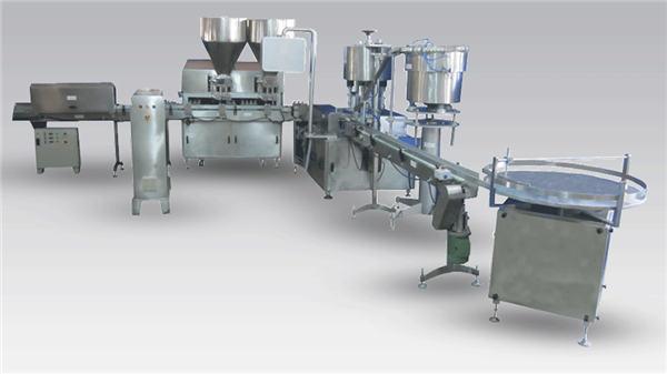 Automaatne vedelõllepudeli täitmise masin tootmisliini katmiseks ja märgistamiseks