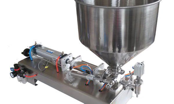Máquina de enchimento de mel para frascos de vidro semi-automática Piston