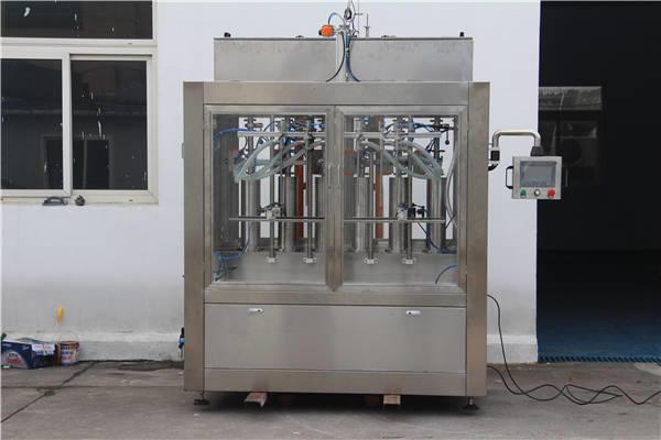 Automatisk fyllmaskin med syltetøyflaske