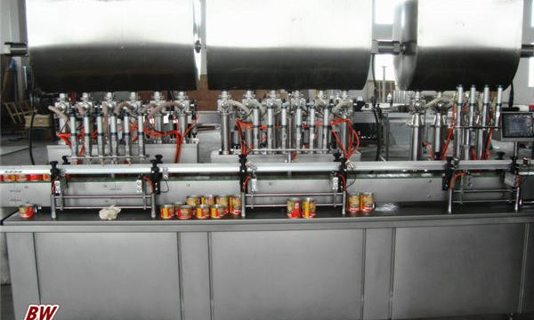 Máquina automática de llenado de salsa de pizza caliente
