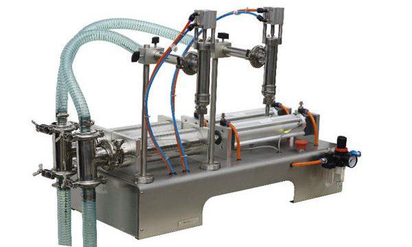 반자동 주두 액체 비누 충진 기계