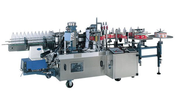 Auto Small Bottle Glue Labeling Machine