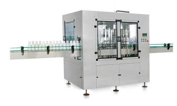 Otte-hoved Automatisk Linear Stempel Liquid Soap Filling Machine