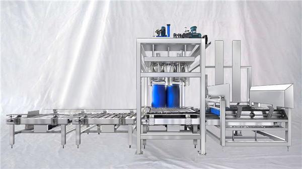 Pielāgojama ESDF sērija 100-1000L ietilpības lielas bungas automātiska uzpildes iekārta