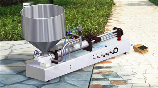 Machine de remplissage de pâte dentifrice semi-automatique