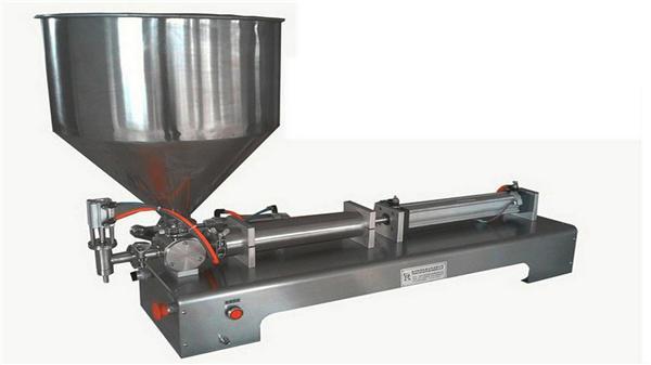 Máquina de enchimento de pasta vertical semi-automática de cabeça única
