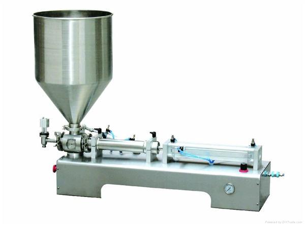 شبه التلقائي كالامين محلول لصق / زجاجة السائل مكبس ملء آلة